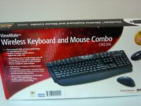 ViewSonic ViewMate CW2206 Wireless Desktop USB Tastatur, Maus, Windows 7, 8, 10