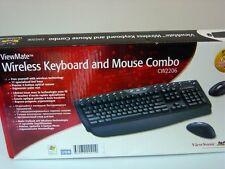 6x ViewSonic ViewMate CW2206 Wireless Optical Desktop USB Tastatur+Maus, DEFEKT