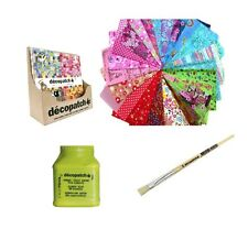 DECOPATCH PAPER KIT: CHOOSE 10 FULL PAPERS, 180G GLUE, No.10 BRUSH