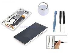 ECRAN LCD + VITRE TACTILE SUR CHASSIS BLOC COMPLET POUR SONY XPERIA Z L36H BLANC