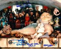 STAR WARS - Jabba's Palace Quad Signed Photo GENUINE AUTOGRAPHS UACC (Ref:5860)