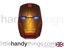 Iron Man Marvel Avengers New Wireless Optical USB Gaming Mouse Gold/Red