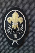 Cap Badge Sea Scouts Instructor Hand Made in Silver Bullion Wire