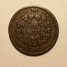 """ND (1838) Lower Canada. Banque Du Peuple """"Bouquet"""" Sou Token. Br-715, LC-5A6."""