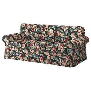 🌺🌹Ikea Ektorp 3 Seat Sofa Slipcover Cover Lingbo Floral 904.033.75🌷🌸