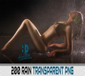 200 RAIN DROPS TRANSPARENT PNG DIGITAL PHOTOSHOP OVERLAYS BACKDROPS BACKGROUNDS