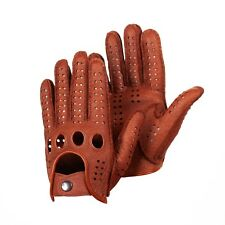 Peccary Leather Gloves Driving Gloves English Tan