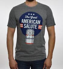 Junk Food Mens Gray Budweiser Graphic T-Shirt M