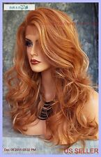 Lace Front Heat Friendly Wig soft Layered  Curls F27.613 STRAWBERRY BLOND 216