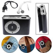 Protable Mp3 Music Player Mini Metal Clip Support 32gb Micro SD TF Card Earphone