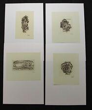 31)Nr.173- EXLIBRIS-W. Jakubowski,  Konvolut 4 Blätter