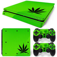 Cannabis Bob Marley Limited Edition Decal Cover Playstation 4 Skin Ps4 Slim Video Game Accessories Video Games & Consoles
