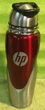 HP Hewlett Packard Stainless Steel Aluminum Travel Drinking Drink Water Bottle