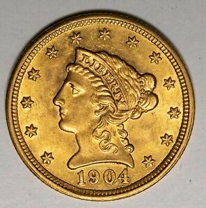 1904 $2.50 Liberty Gold Quarter Eagle Item#P13960