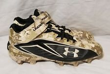 Under Armour Wounded Warrior Football Cleats Size 14 Brown Camo Shoes