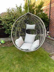 Garden Hanging Chair Hammocks Swing Egg Chair PE rattan - Basket ONLY Grey