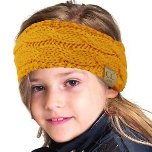 CC Kids Fuzzy Lined Ages 2-7 Fleeced Headwrap Headband Earwarmer Winter Knit