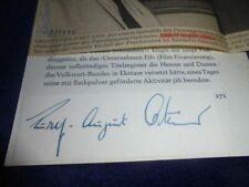 Rudolf August Oetker (+) Autograph - signiert - Unternehmer - Dynastie - sigend