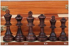 Brand New♞Hand Crafted ♜ Wooden Chess Set Tournament♜54cm x 54cm♜Weighted pieces
