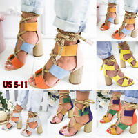 Summer Sandals Ankle Strap Cross-Strap Woman High Heels Holiday Bandage Shoes