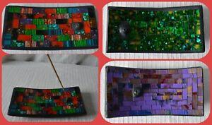 Incense Stick Holder ashcatcher ash catcher mosaic plate ceramic burner insence
