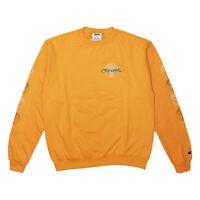 Mens Crooks Castles All City Champion Crew Neck Sweatshirt Orange