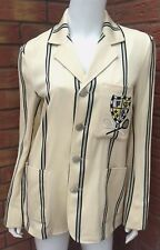 POLO RALPH LAUREN CREAM STRIPE CAMPBELL BLAZER JACKET RETAIL £470 SIZE UK 12