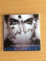 ADAM LAMBERT / QUEEN 'FOR YOUR ENTERTAINMENT' NEW 4 REMIX OFFICIAL CD PROMO