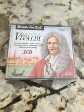 MASTER PORTRAIT ANTONIO VIVALDI 3CD RARE OOP BRAND NEW SEALED ONLY ONE ON EBAY