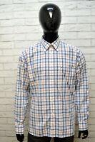 Camicia Uomo TOMMY HILFIGER Taglia XL Maglia Polo Camicetta Shirt Men Quadri Blu