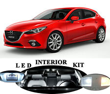 LED Package - Interior + License Plate + Vanity + Reverse for Mazda 3 (12 Pcs)