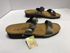 Naot Marissa Metal/Brown Metallic Slip On Casual Sandals EUR44 Women's 13M Shoes