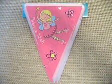 Make a Wish Pink Fairy Birthday Party Bunting