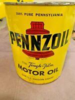 Vintage Pennzoil Tough Film Motor Oil One Gallon Oil Can