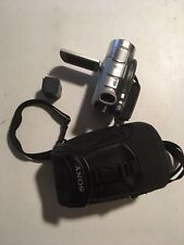Sony DCR-DVD405 Video Camcorder -  Black/Silver With Carrier. No Charger