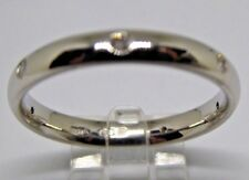 Platinum 3mm court ring 7 bright round diamonds