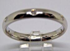 Platinum 3mm court ring 7 bright round diamonds