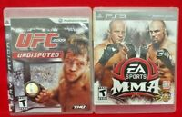 MMA + UFC 2009 Undisputed Fighting -  Game Lot - Sony PlayStation 3 PS3 - Tested