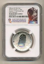 2019 S Apollo Half Dollar Ngc Pf69 Ucam Er from set - Asf Astronaut label Proof