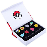 Pokemon Cosplay Indigo League Badges Kanto Gym Set 8Pcs Metal Pins In Box Gift