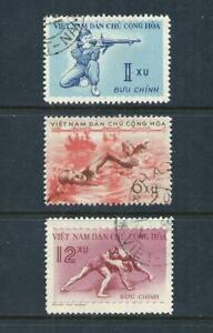 VIETNAM (NORTH) _ 1959 'SPORTS' SET of 3 _ USED ____(691)