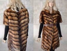 GENUINE POLECAT FUR VEST Sleeveless Coat , Chevron, size M, real furjacket