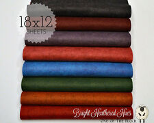 """Bright Heathered Hues Collection Merino Wool Blend Felt, Eight 12"""" X 18"""" Sheets"""