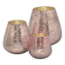 Windlicht Kerzenhalter Kara aus Glas Höhe 15 cm braun NEU