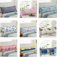Cotton Pillowcase Comfy Home Sofa Print Long Body Double Pillow Cover Protector