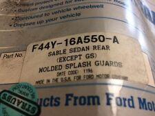 Mercury Sable OEM Rear Molded Splash Guards F44Y-16A550-A
