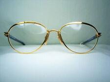 Robert Capucci luxury eyeglasses Gold plated oval men women frames vintage NOS