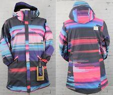 New 2017 Burton Womens Cadence Snowboard Jacket Medium Coral Flynn Glitch