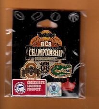 2007 BCS CHAMPIONSHIP GAME DAY LAPEL PIN OHIO STATE BUCKEYES FLORIDA GATORS MINT