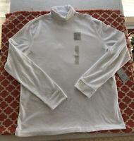 Men's Croft & Barrow Turtleneck Long Sleeve Knit Shirt Size Large White New